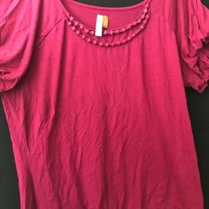 Mulberry Reddish blouse with beading detail